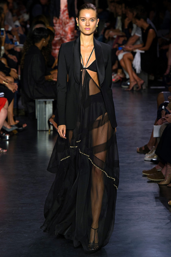Altuzarra-Spring-2015-Collection-NYFW-Sheer-Accent-Dress-OnGiselleAvenue