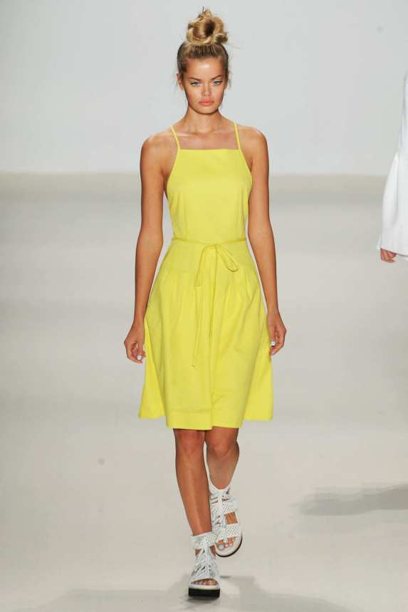 Nanette-Lepore-Spring-2015-Collection-NYFW-Pastel-Yellow-OnGiselleAvenue