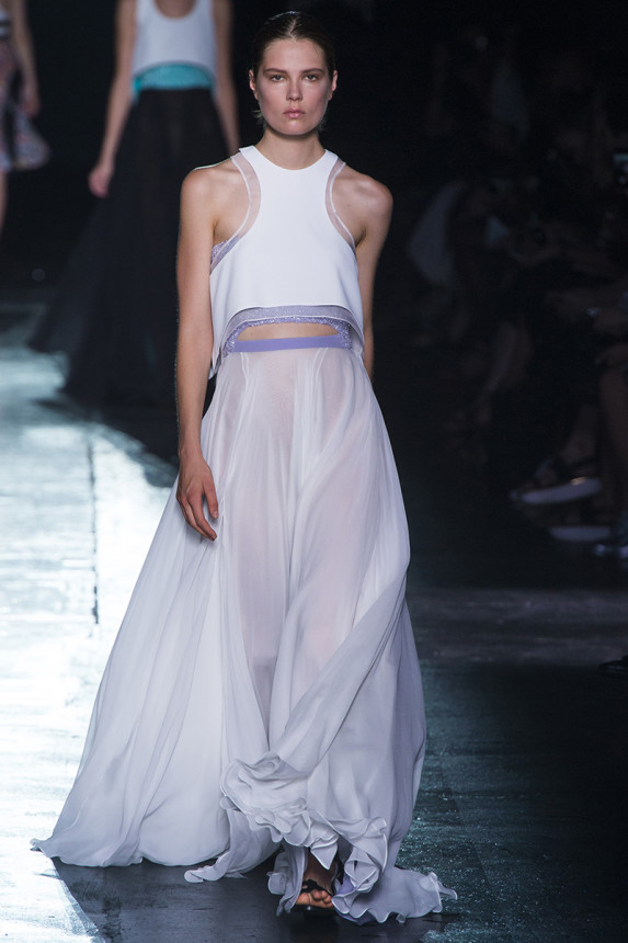 Prabal-Gurung-Spring-2015-Collection-NYFW-Sheer-Detailed-Crop-Top-OnGiselleAvenue