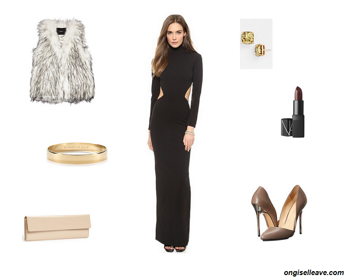 Outfit-Inspiration-Office-Holiday-Party-Flowing-Dress-Fashion-OnGiselleAve