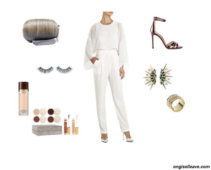 Outfit-Inspiration-Office-Holiday-Party-Jumpsuit-Bellowing-Sleeves-Fashion-OnGiselleAve