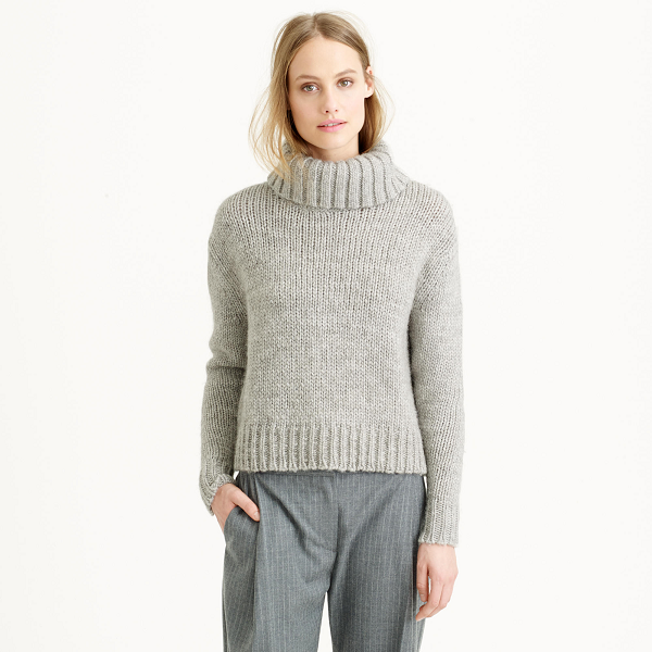 JCrew-Gray-Chunky-Knit-Turtleneck-Sweater-Fall-to-Spring-Trend-Fashion-OnGiselleAve