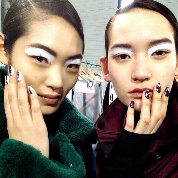 PFW-Kenzo-Fall-2015-Backstage-MAC-Nails-Winged-Liner-Beauty-OnGiselleAve
