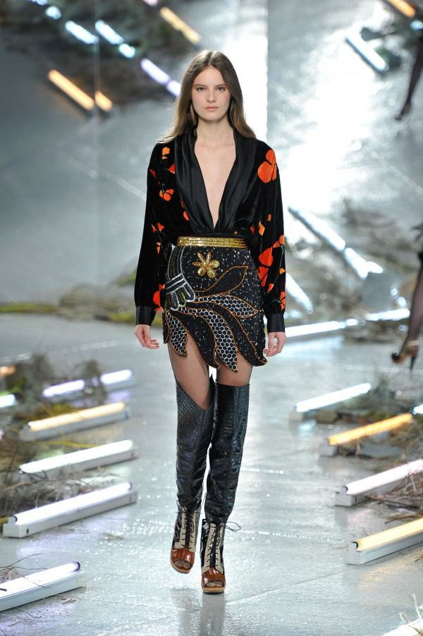 Rodarte-Fall-2015-Runway-Over-the-Knee-Embellished-Boots-Fashion-OnGiselleAve