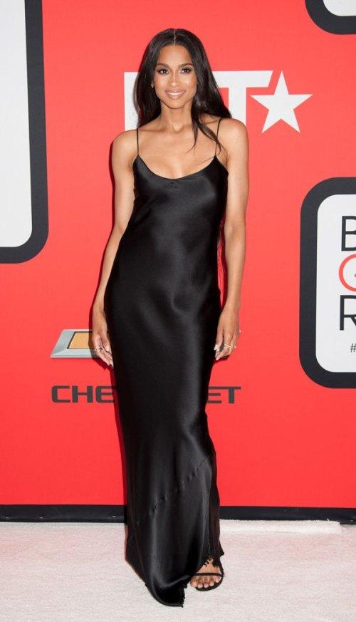 Ciara_BlackGirlsRock_Black_Slip_Dress_Fashion