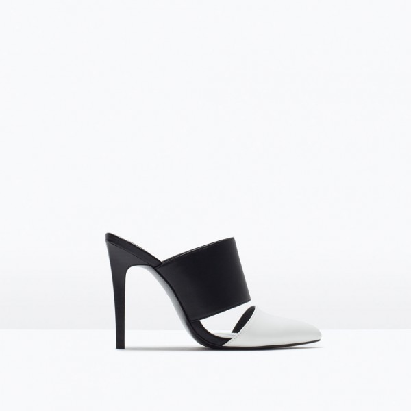 Footwear-Zara-High-Heeled-Black-and-White-Mules-Fashion-OnGiselleAve