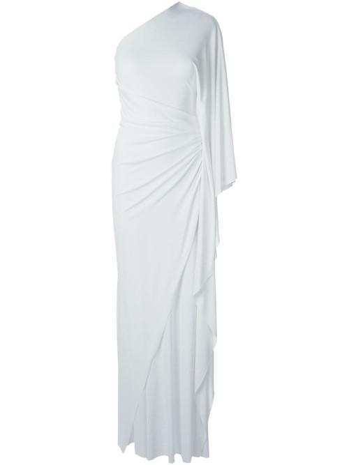 White-One-Shoulder-Drape-Dress-Fashion-OnGiselleAve