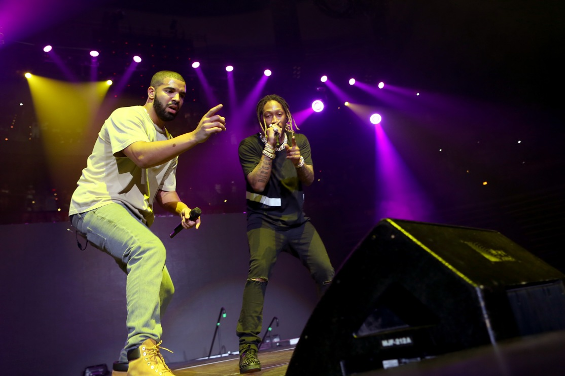 June 20, 2015 -- ATLANTA --  Drake makes a surprise appearance Future at Birthday Bash 20.   (Akili-Casundria Ramsess/Special to the AJC)