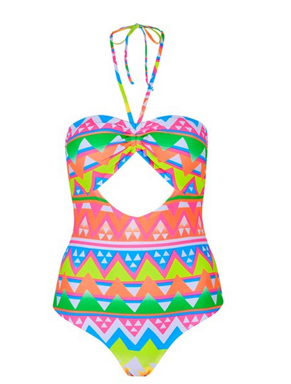 Topshop-Cutout-Geo-Print-Swimsuit-Fashion-OnGiselleAve