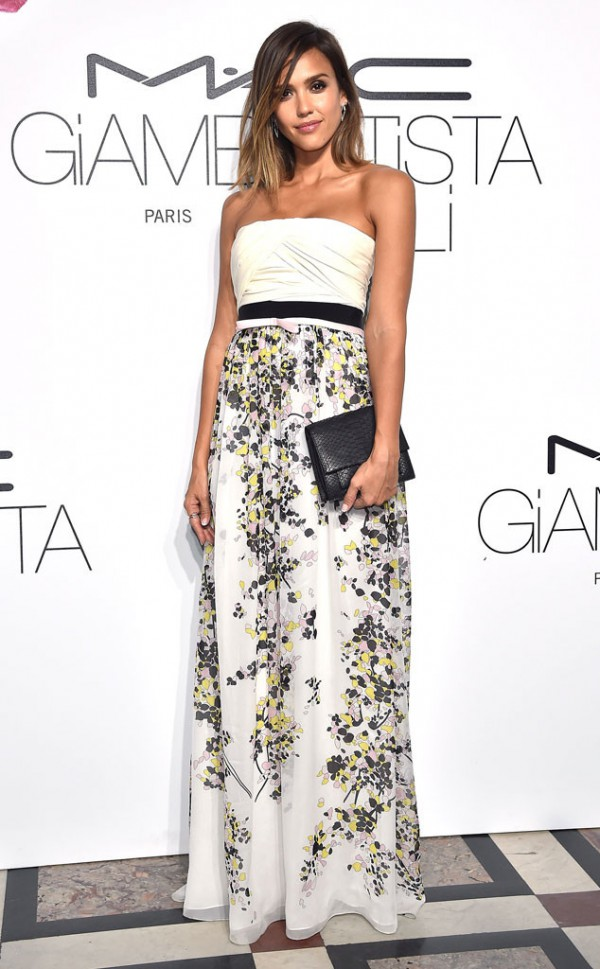 Jessica-Alba-Giambattista-Valli-Floral-Gown-Red-Carpet-OnGiselleAve