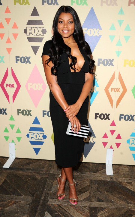 Taraji-P-Henson-Below-the-Knee-Black-Dress-Fashion-OnGiselleAve
