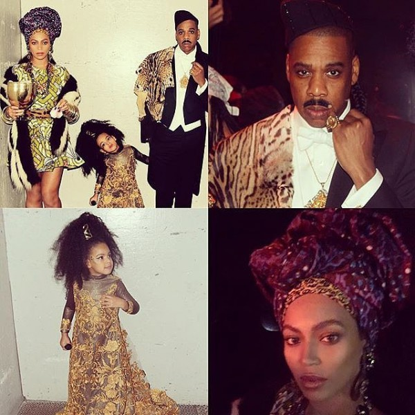 Beyoncé-Jay-Z-Blue-Ivy-Queen-Aoleon-Prince-Akeem-Imani-Izzi-From-Coming-America-Halloween-2015-Costume-OnGiselleAve