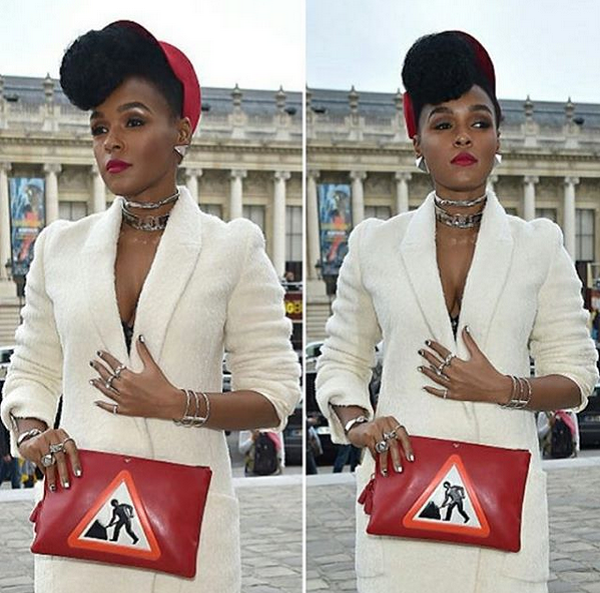 Janelle-Monae-Textured-Menswear-Suit-Graphic-Clutch-OnGiselleAve
