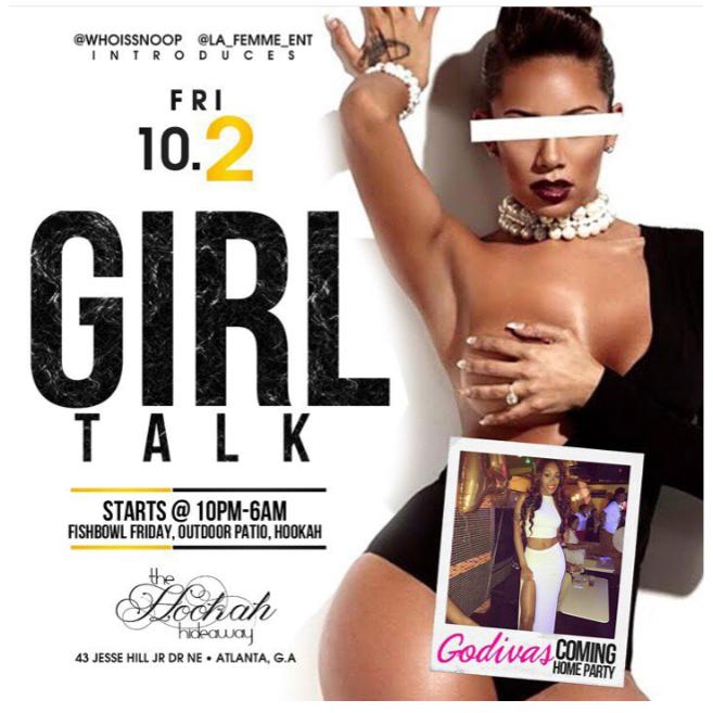 #CLIENTNEWS MEDIA INVITE: Girl Talk App Introduction Party This Friday inAtlanta!