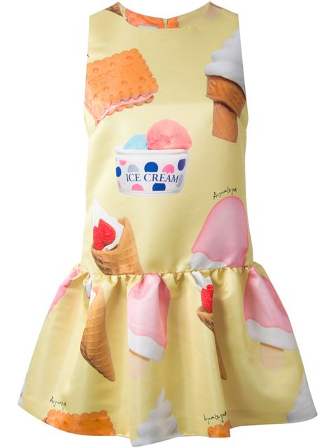 Farfetch-Ice-Cream-Print-Flared-Dress-Fashion-OnGiselleAve