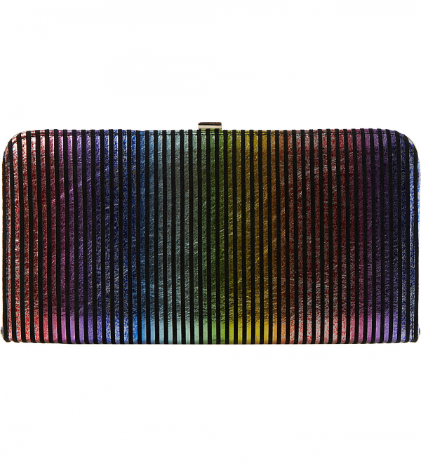 Dune-Bloomsbury-Striped-Metallic-Leather-Clutch-Fashion-OnGiselleAve