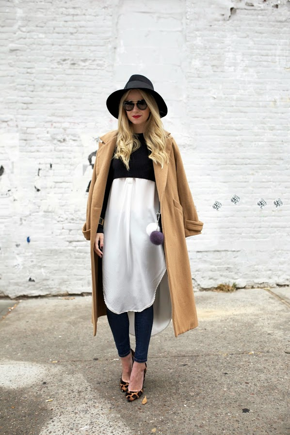 Atlantic-Pacific-Camel-Coat-Fedora-Crop-Top-Flowing-Shirt-Fashion-OnGiselleAve