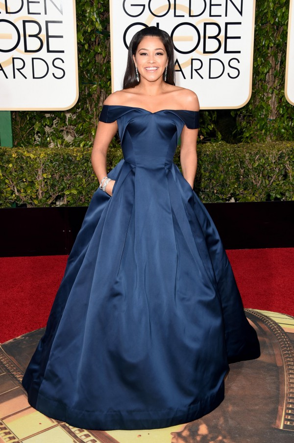 Gina-Rodriguez-Zac-Posen-Golden-Globes-Fashion-OnGiselleAve