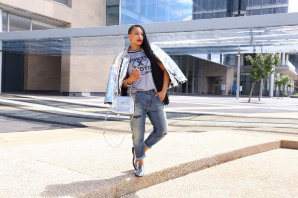 Metallic-Bomber-Jacket-Brogues-Boyfriend-Jeans-Statement-Tee-Layers-Fashion-OnGiselleAve
