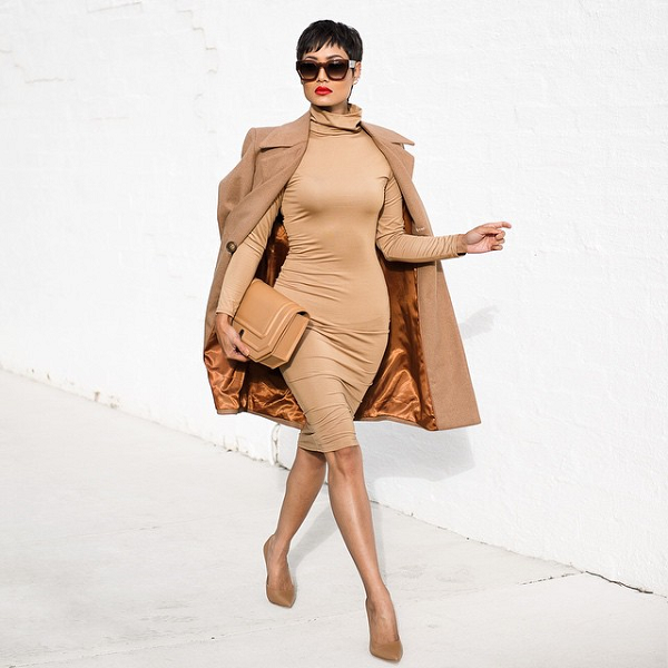 Micah-Gianneli-Camel-Coat-Bodycon-Dress-Fashion-OnGiselleAve