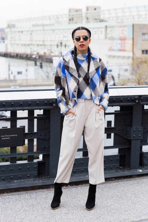 Plaid-Turtleneck-Bomber-Jacket-Tan-Culottes-Layers-Fashion-OnGiselleAve