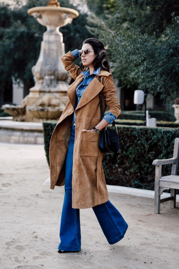 Viva-Luxury-Camel-Coat-Flared-Denim-Fashion-OnGiselleAve