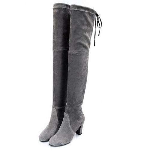 Gray-Over-the-Knee-Boots-Fashion-OnGiselleAve