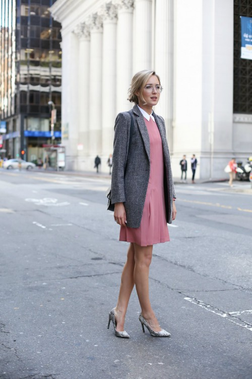 Memorandum-Pink-Pleated-Shift-Dress-Spring-Fashion-OnGiselleAve