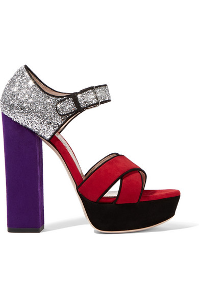 Miu-Miu-Glittered-Suede-Platforms-Fashion-OnGiselleAve