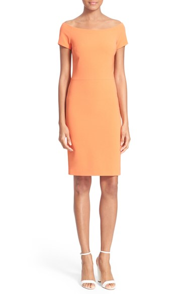 Off-the-Shoulder-Tangerine-Dress-Fashion-OnGiselleAve