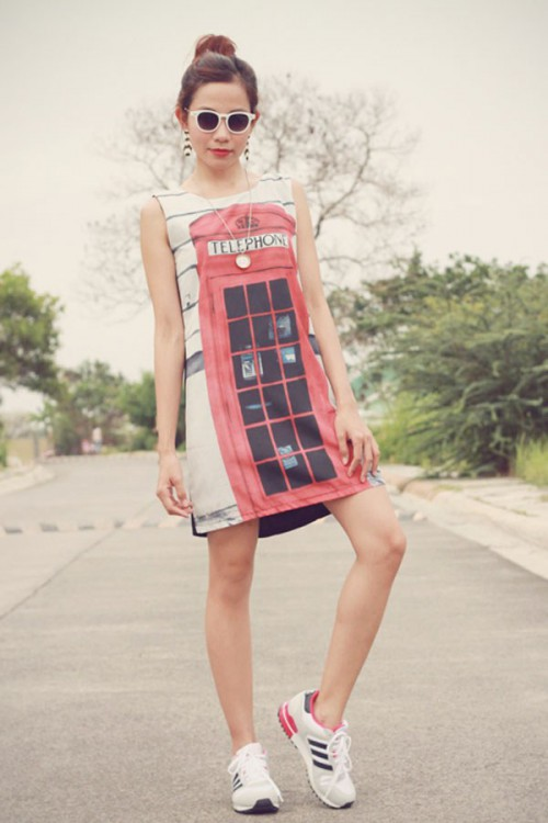Printed-Shift-Dress-Spring-Fashion-OnGiselleAve