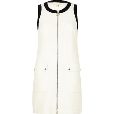 River-Island-Zip-Up-Shift-Dress-Spring-Fashion-OnGiselleAve