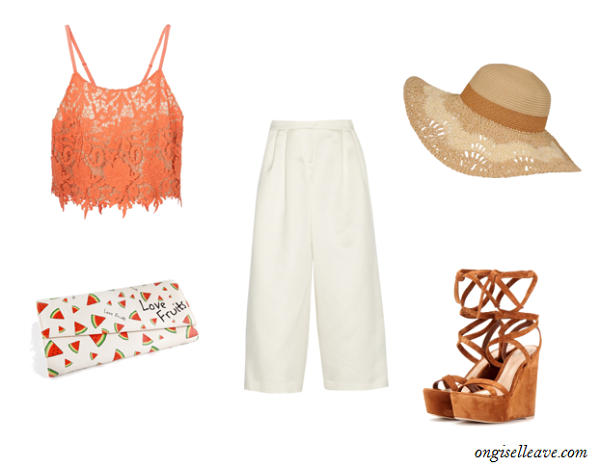 Culottes-Lace-Crop-Top-Wedges-Coachella-Fashion-OnGiselleAve