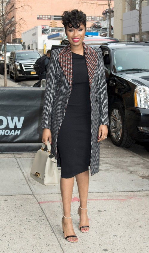 Jennifer-Hudson-Layered-Patterned-Coat-Fashion-OnGiselleAve