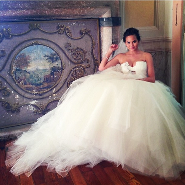 Chrissy-Teigen-Vera-Wang-Wedding-Gown-OnGiselleAve
