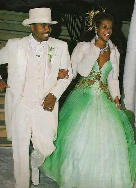 Kelis-Green-Embroidered-Wedding-Gown-OnGiselleAve