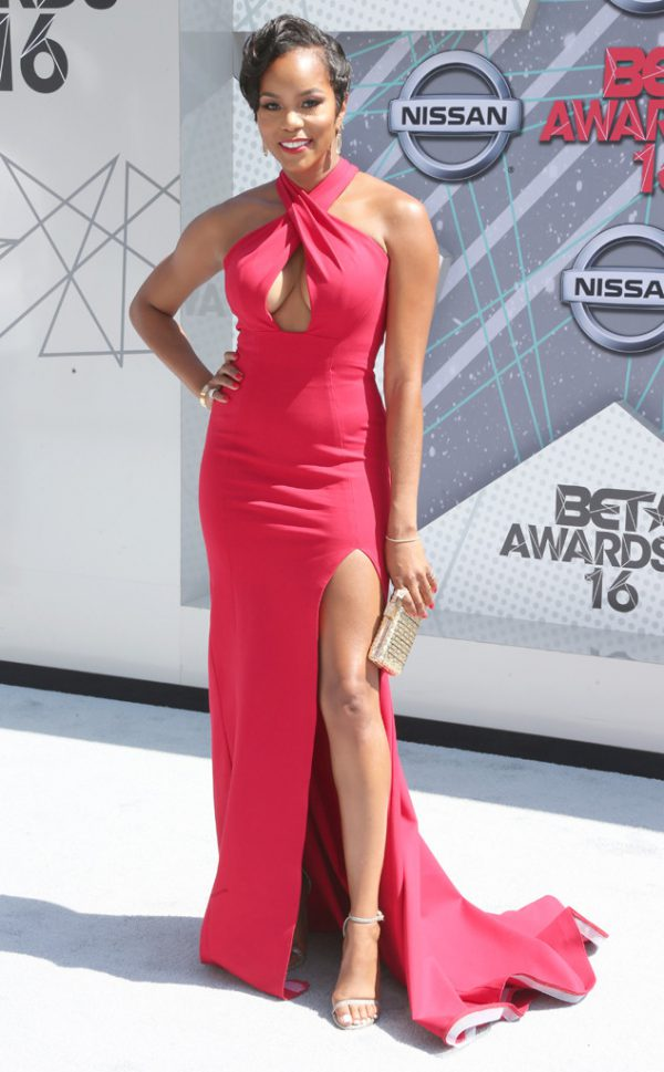 Letoya-Luckett-Red-Form-Fitting-Gown-BET-Awards-Fashion-OnGiselleAve