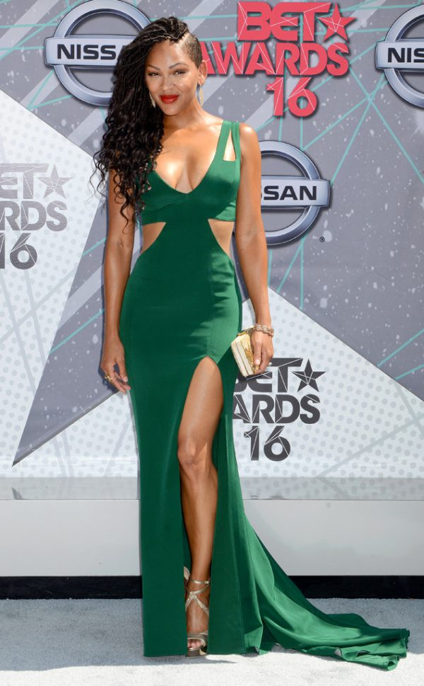 Meagan-Good-Emerald-Cut-Out-Gown-BET-Awards-Fashion-OnGiselleAve