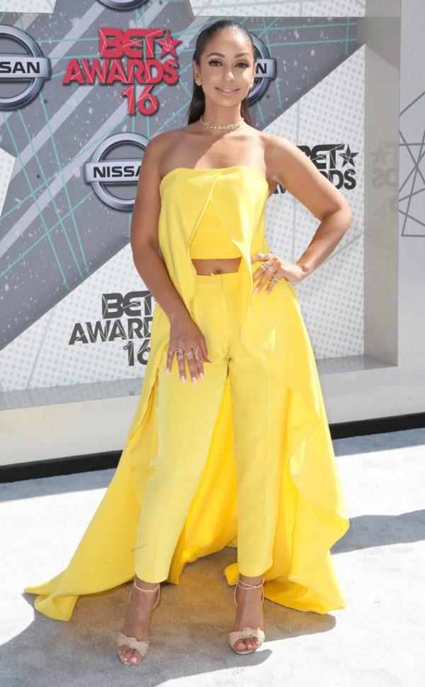 Mya-Yellow-Caped-Separates-BET-Awards-Fashion-OnGiselleAve