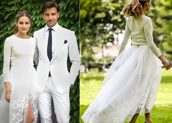 Olivia-Palermo-Vera-Wang-Cashmere-Sweater-Tulle-Skirt-Wedding-Gown-OnGiselleAve