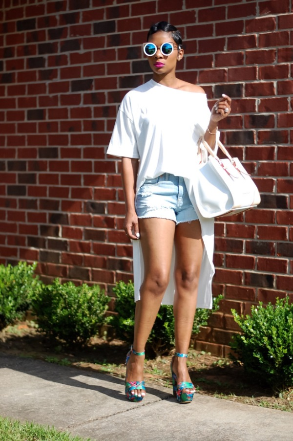 Young-At-Style-Denim-Shorts-Floral-Heels-Summer-Fashion